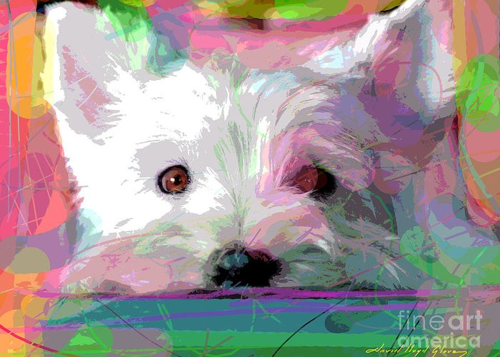 Dogs Greeting Card featuring the painting Take Me Home by David Lloyd Glover