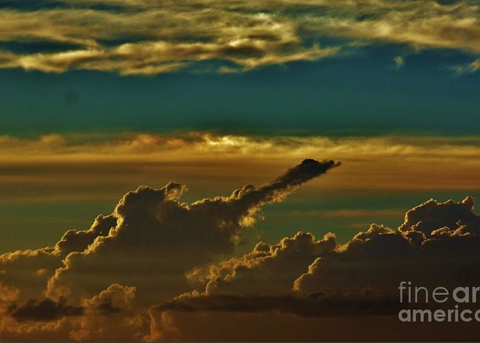 Clouds Greeting Card featuring the photograph Takes Flight by Craig Wood