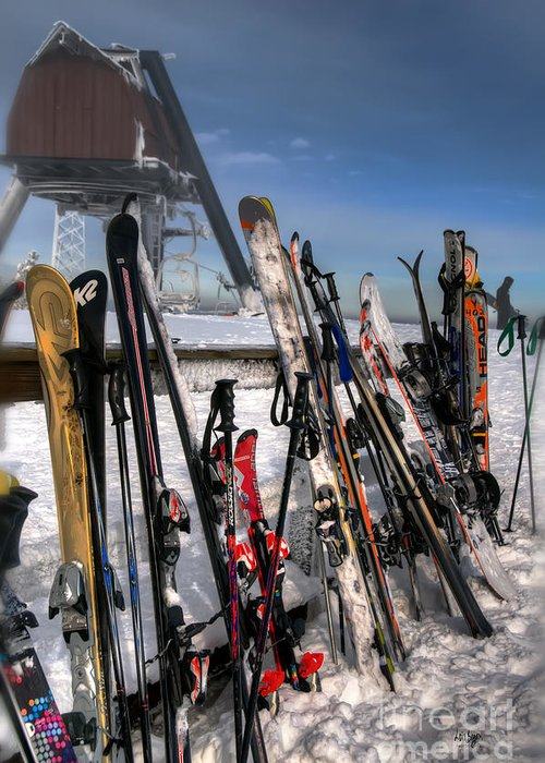 Ski Greeting Card featuring the photograph Takin' A Break by Lois Bryan