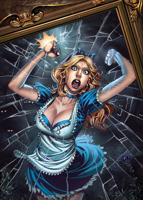 Grimm Fairy Tales Greeting Card featuring the drawing Tales From Wonderland Alice by Zenescope Entertainment