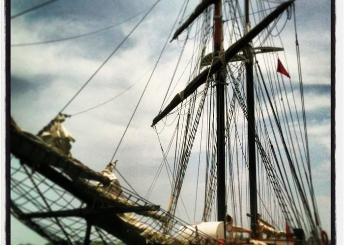 Ship Greeting Card featuring the photograph Tall Ship by Chalene Weir