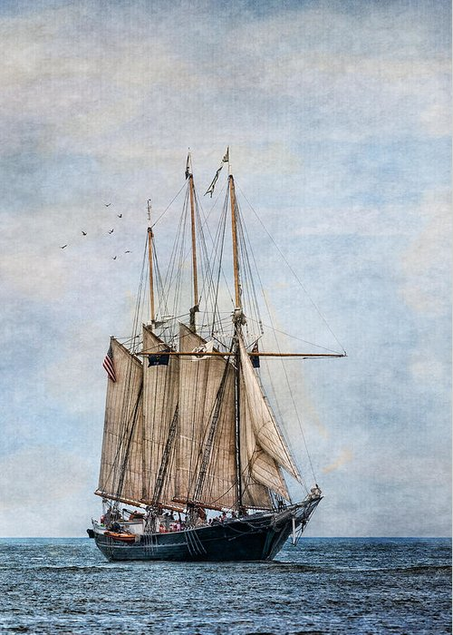 Denis Sullivan Greeting Card featuring the photograph Tall Ship Denis Sullivan by Dale Kincaid