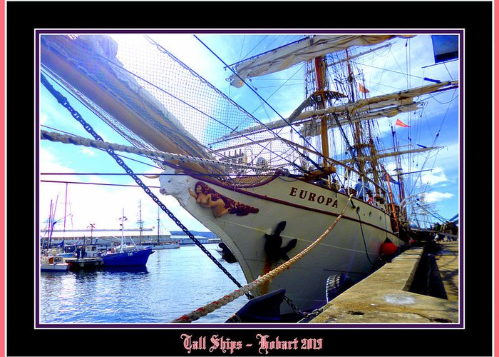 Hobart Greeting Card featuring the photograph Tall Ships 2013 by Ritchard Mifsud