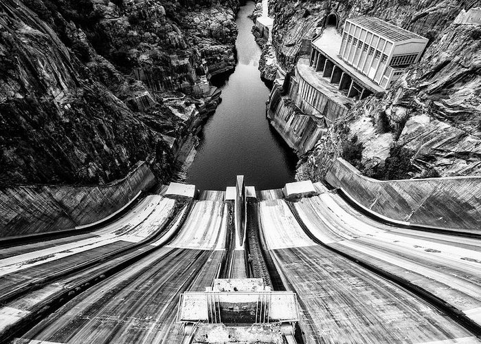 Portugal Greeting Card featuring the photograph Tame The River by Filipe P Neto