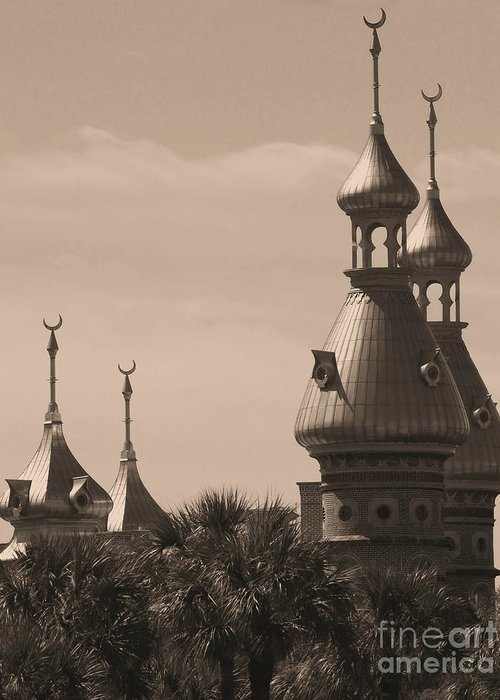 Tampa Greeting Card featuring the photograph Tampa Minarets by Carol Groenen