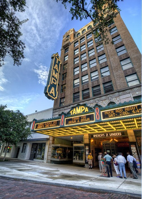 Tampa Greeting Card featuring the photograph Tampa Theater 2 by Al Hurley