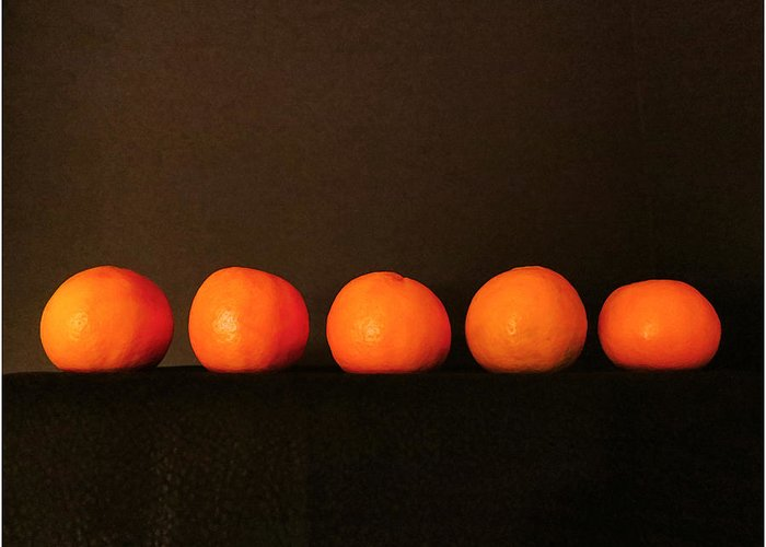 Fruit Greeting Card featuring the photograph Tangerines by Patricia Januszkiewicz