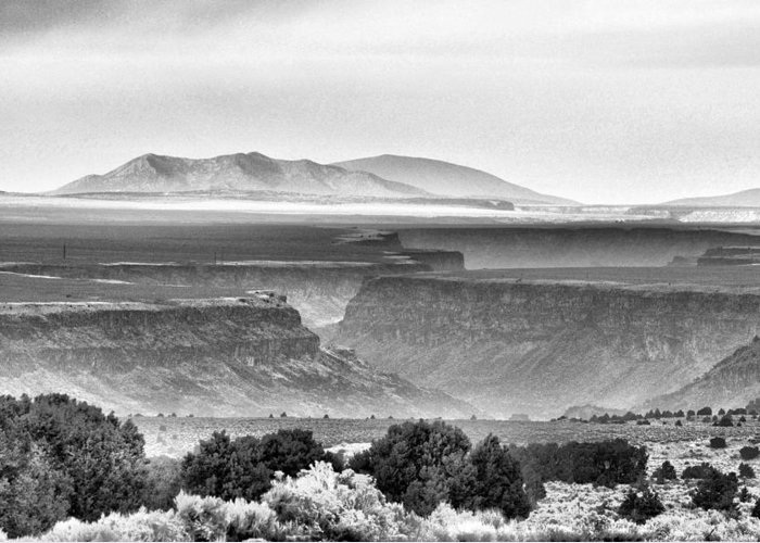 Taos Greeting Card featuring the photograph Taos Volcanic Plateau by Jacqui Binford-Bell
