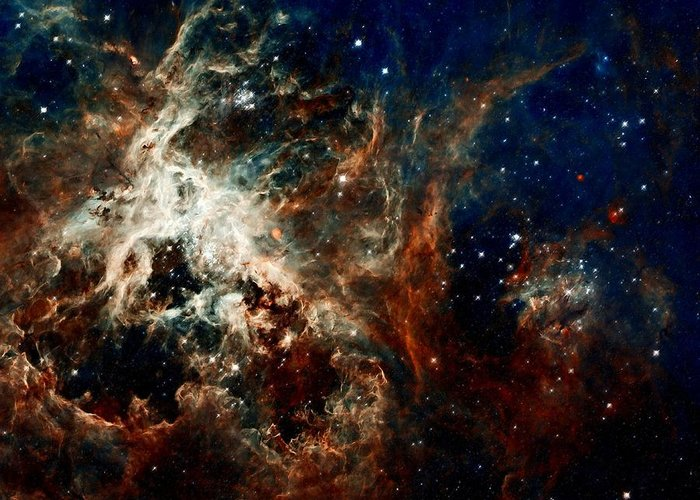 Hubble Greeting Card featuring the photograph Tarantula Nebula by Amanda Struz