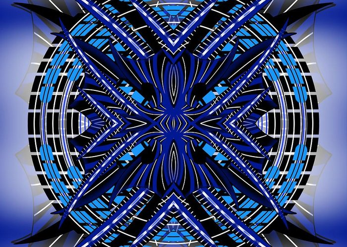Abstract Greeting Card featuring the digital art Targeting 1 by Brian Johnson