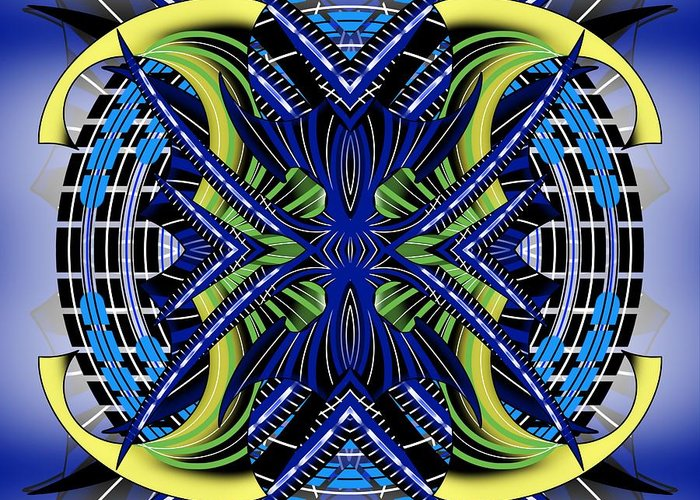 Abstract Greeting Card featuring the digital art Targeting 2 by Brian Johnson