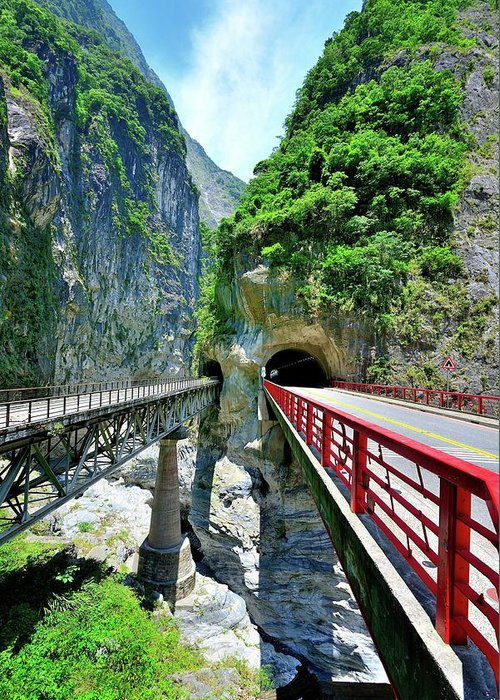 Built Structure Greeting Card featuring the photograph Taroko Gorge by Photography By Anthony Ko