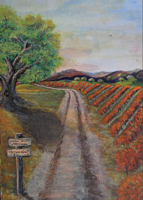 Wine Greeting Card featuring the painting Tasting Room by Dixie Adams