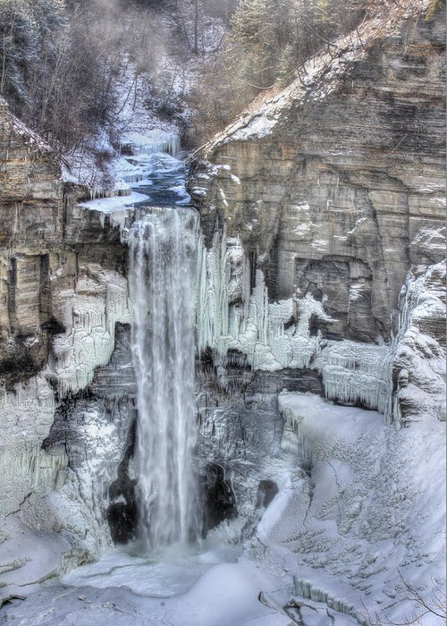Taughannock Falls Greeting Card featuring the photograph Taughannock Falls by Lori Deiter