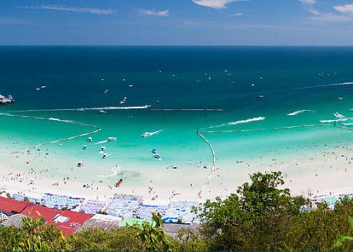 Activity Greeting Card featuring the photograph Tawaen Beach by Atiketta Sangasaeng