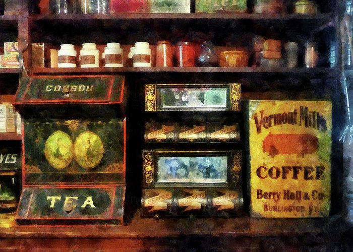 Coffee Greeting Card featuring the photograph Tea And Coffee by Susan Savad
