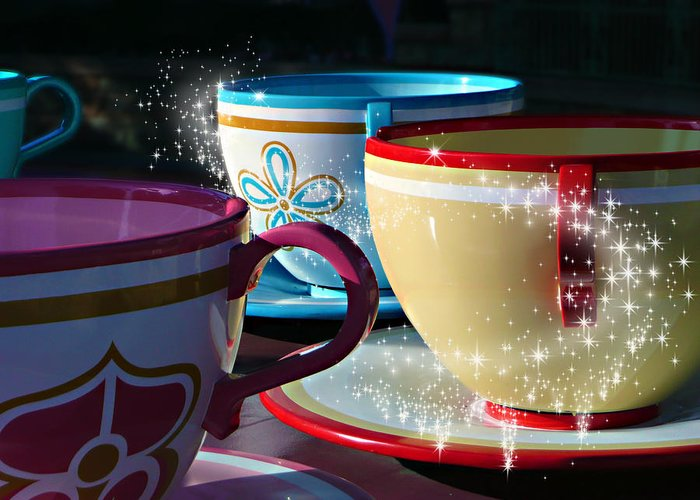 Disneyland Greeting Card featuring the photograph Tea For You by Timothy Ramos