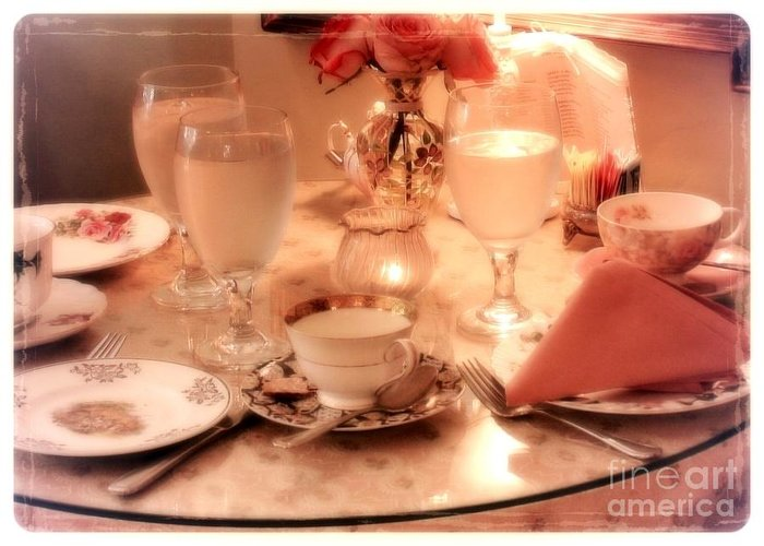 Tea Time Greeting Card featuring the photograph Tea Time by Carol Groenen