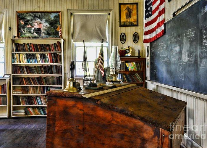 One Room School House Greeting Cards