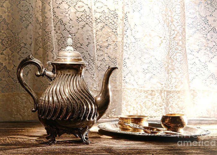 Tea Greeting Card featuring the photograph Teatime by Olivier Le Queinec