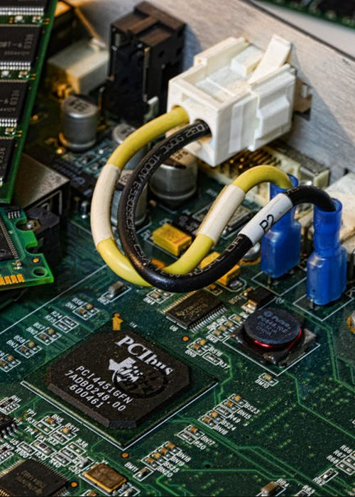 Board Greeting Card featuring the photograph Technology - The Motherboard by Paul Ward