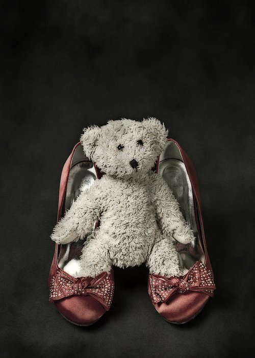 Shoe Greeting Card featuring the photograph Teddy In Pumps by Joana Kruse