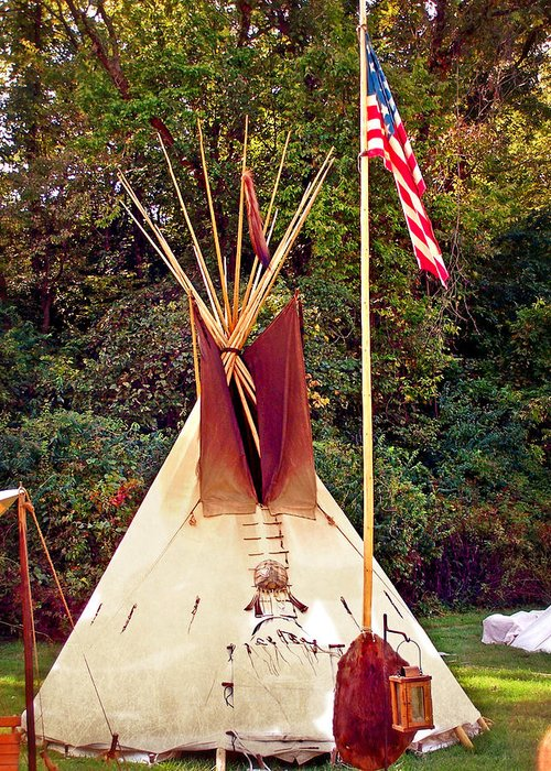 Teepee Greeting Card featuring the photograph Teepee by Marty Koch