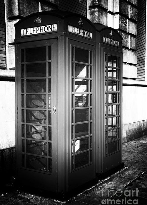 Telephone Drama Greeting Card featuring the photograph Telephone Drama by John Rizzuto