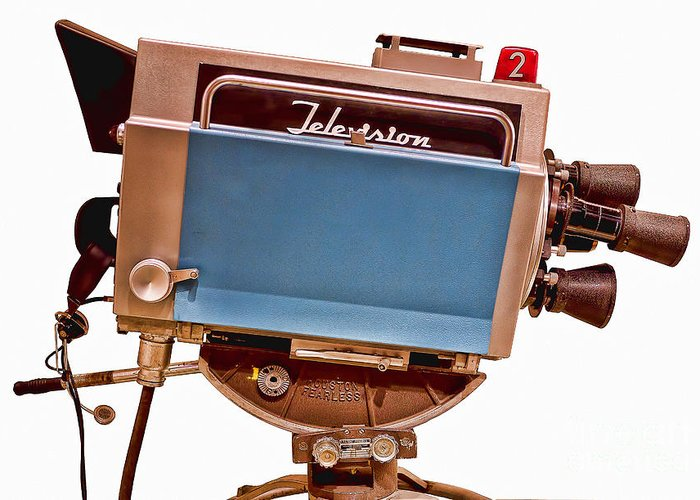 Tv Greeting Card featuring the photograph Television Studio Camera Hdr by Edward Fielding