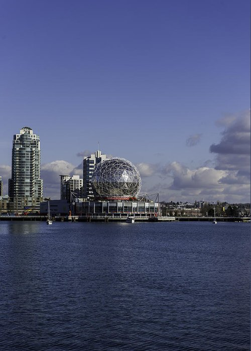 Highrise Greeting Card featuring the photograph Telus World by Frank Pali