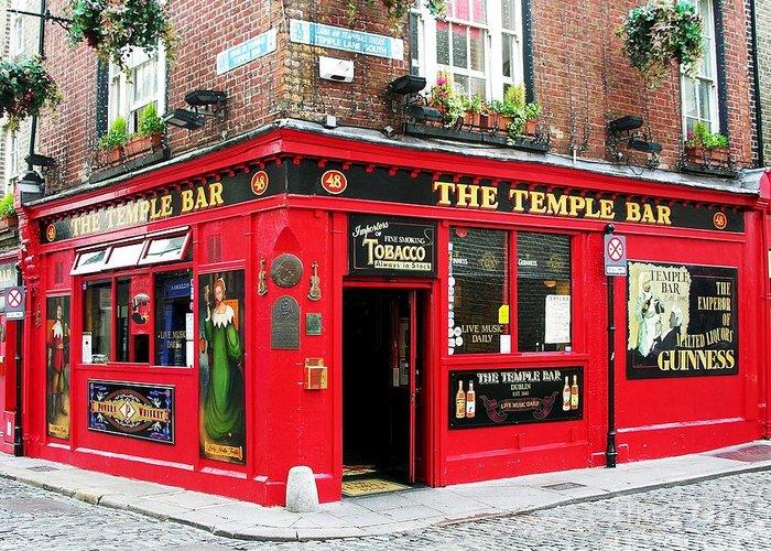 Irish Pubs Greeting Card featuring the photograph Temple Bar by Mel Steinhauer