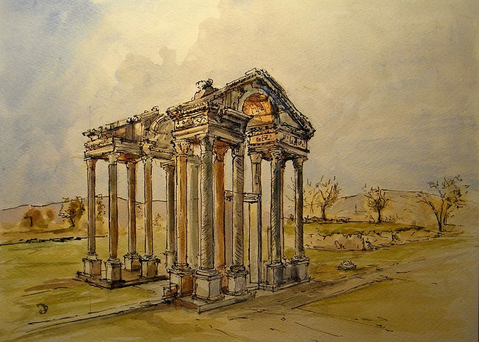 Ancient Greek Ruins Greeting Cards