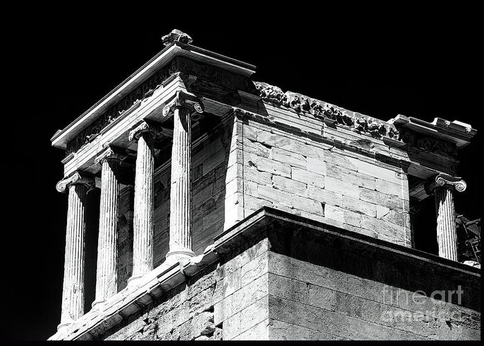 Temple Of Athena Nike Greeting Card featuring the photograph Temple Of Athena Nike by John Rizzuto