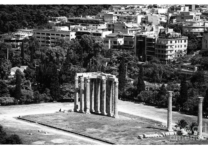 Temple Of Zeus Greeting Card featuring the photograph Temple Of Zeus II by John Rizzuto