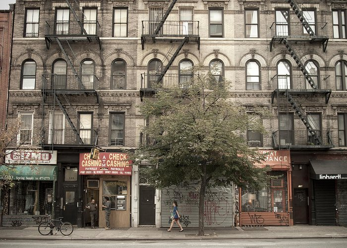 Manhattan Greeting Card featuring the photograph Tenement Building by Newyorkcitypics Bring your memories home