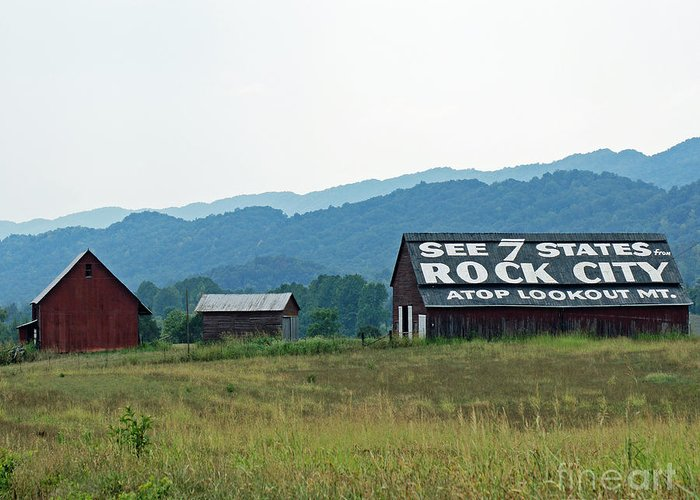 Tennessee Greeting Card featuring the photograph Tennessee Barn by Roger Potts
