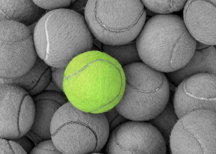 Ace Greeting Card featuring the photograph Tennis Balls Background Texture by Phaitoon Sutunyawatcahi