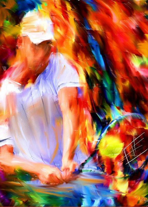 Tennis Racket Greeting Cards