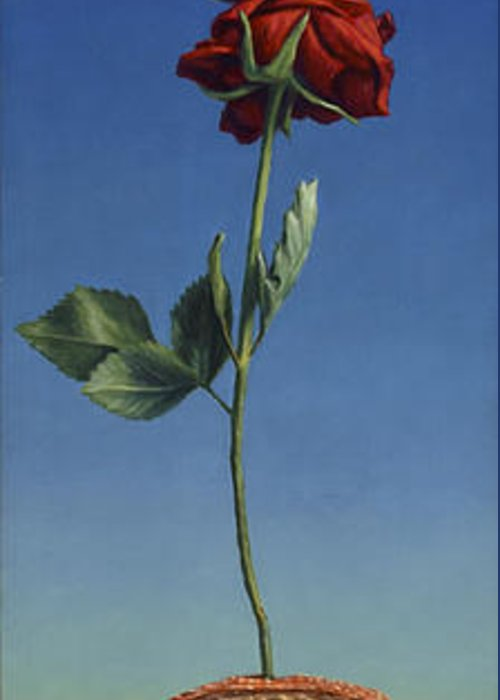 Still-life Greeting Card featuring the painting Tenuous Still-life 1 by James W Johnson