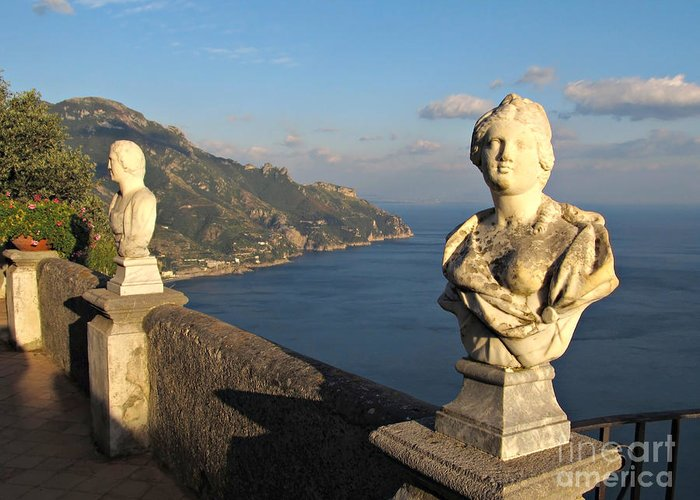 Vista Greeting Card featuring the photograph Terrace Of Infinity In Ravello On Amalfi Coast by Kiril Stanchev