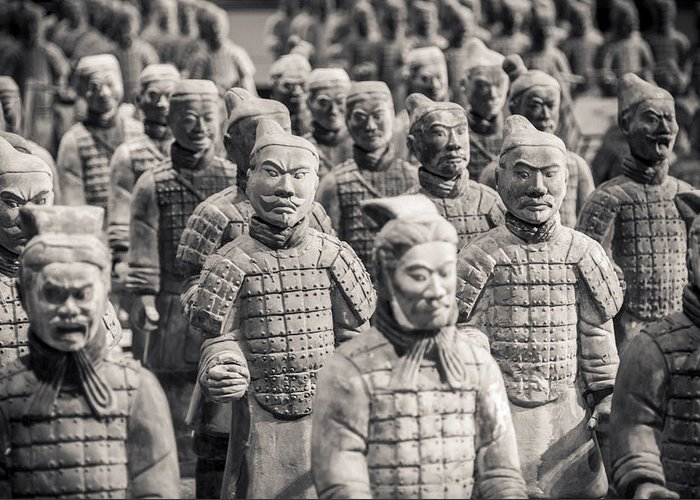 3scape Photos Greeting Card featuring the photograph Terracotta Army by Adam Romanowicz