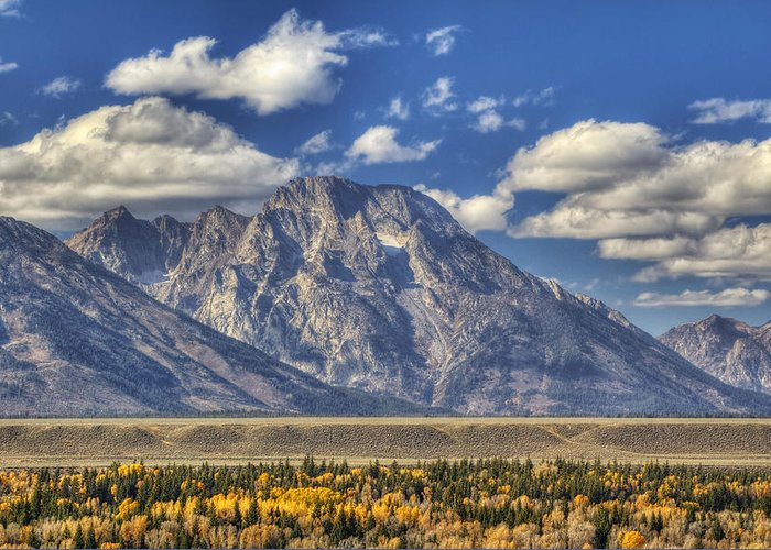 Autumn Greeting Card featuring the photograph Teton Glory by Mark Kiver