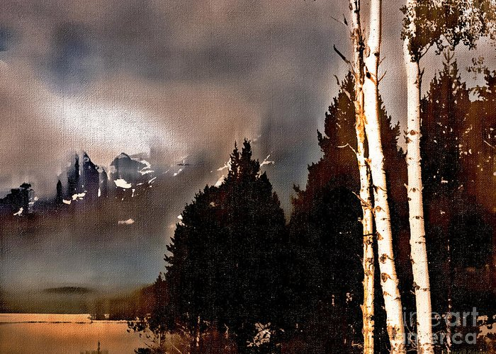 Wyoming Greeting Card featuring the photograph Teton Storm by Barbara D Richards