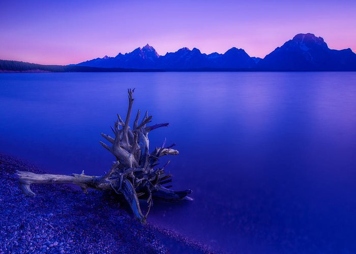 Teton Greeting Card featuring the photograph Teton Summer Sunset by Jerry Patterson