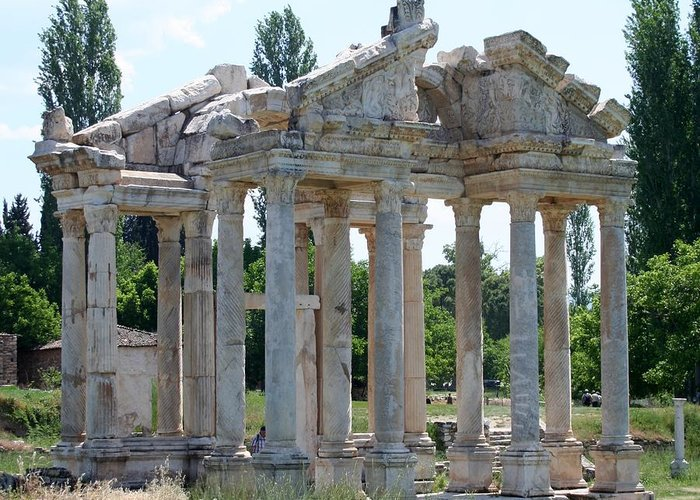 Aphrodisias Greeting Card featuring the photograph Tetrapylon The Arched Gate Of Aphrodisias by Tracey Harrington-Simpson