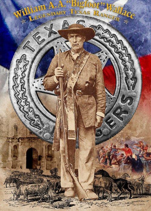 Texas Ranger Greeting Card featuring the photograph Texas' Braveheart by Robert Hudnall