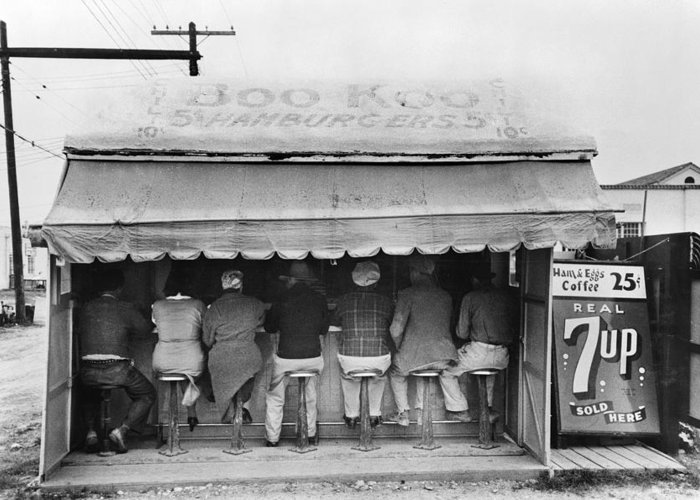 1939 Greeting Card featuring the photograph Texas Luncheonette, 1939 by Granger
