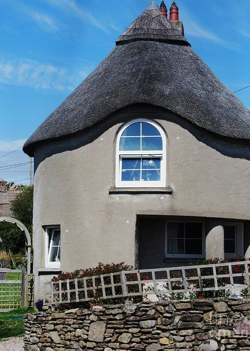 Thatched Cottage Photography Gayleen Village Photography Ireland Photography Stock Shot Photography Rural Photography Architectural Photography Metal Frame Suggested Greeting Card Canvas Print Very Suitable Greeting Card featuring the photograph Thatched Cottage Gayleen Ireland by Marcus Dagan