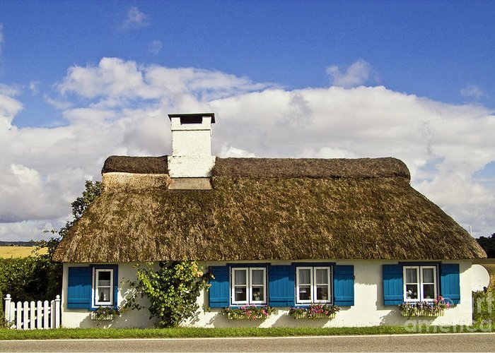 House Greeting Card featuring the photograph Thatched Country House by Heiko Koehrer-Wagner