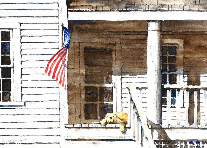 4th Of July Greeting Card featuring the painting The 5th Of July by William Beaupre